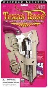 Cowgirl Metal Texas Rose Pink Girls Cap Gun Replica Revolver Pistol With Holster