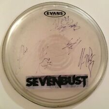 SEVENDUST BAND SIGNED DRUMHEAD AUTOGRAPH ALL 5 MEMBERS LAJON WITHERSPOON