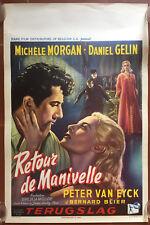Plakat Belgischer Return Of Kurbel Daniel Gelin Michele Morgan Michèle Mercier