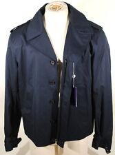 Ralph Lauren Purple Label Navy Epaulet Zip/Button Filled Jacket Sz XL $1695 E1D