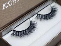 Mink False Eyelashes 3D Tridimensional Multilayer Natural Black Upper Eyelash