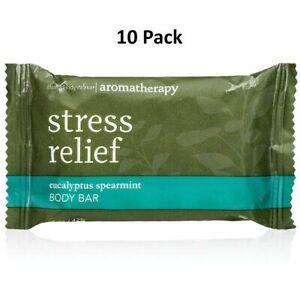 Stress Relief Aromatherapy Eucalyptus Spearmint Body Bar-1oz-Travel soap 10 qty