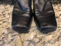 ENZO ANGIOLINI Womens Size 8.5M knee High Fashion Boot Black Leather Heel Riding