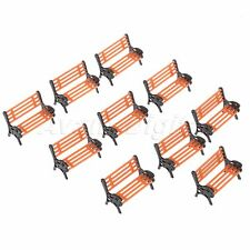 Model Benches Figures Park Bench Scenery Family Garden Seats Scale 1:75 10pcs