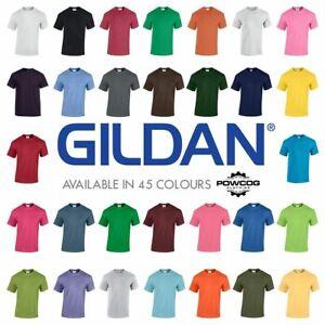 GILDAN MENS Heavy Cotton Plain Short Sleeve T Shirt  45 COLOURS  BEST SELLER