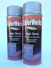 (20,63€/L) 2x 400 ml MOTIP® DUPLI Auspufflack silber Thermolack hitzefest 800°C