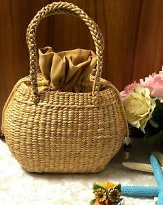 Women  Handmade Wicker Handbag Boho Birthday gift Fashion Summer Beach Holiday
