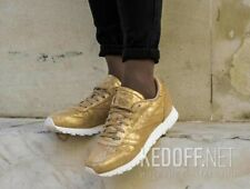 Gold Reebok WOMEN CLASSICS EATHER SHIMMER Trainers/ Sneakers  UK 6 EU 39 US 8.5