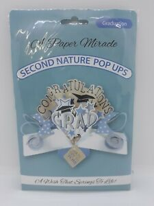 A Paper Miracle Second Nature Pop Up Greeting Card ~ Graduation