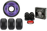 Bones Wheels 100's Black 55mm Conical V5 + FREE Spitfire Skateboard Bearings