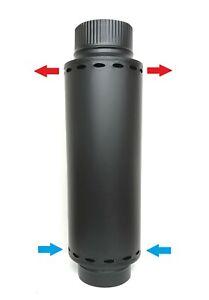 120 Exhaust Heat Exchanger warmlufttauscher Fireplace Flue Chimney Pipe Flue Gas Cooler