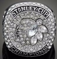 2015 CHICAGO BLACKHAWKS Stanley Cup Championship Ring 18k HEAVY GOLD PLATED USA*