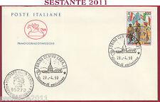 ITALIA FDC CAVALLINO CENTENARIO 1° MAGGIO 1990 ANNULLO TORINO T57