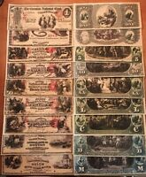 Reproduction Money Obsolete US Virginia VA Bank Of Philippi 6PC Set Currency