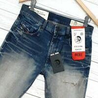 ⭐ Mens Diesel D-strukt Tapered slim stretch denim jeans acid wash 0097Q W31 L30