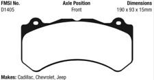 EBC Greenstuff Brake Pad Set Front for 11-19 Grand Cherokee 6.4 SRT-8 # DP61853