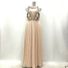 River Island Dress Womens Size UK 18 Pink Nude Formal Occasion Wedding 282250