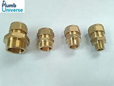 """Brass Compression Male Straight Coupler  15mm x 1/4"""", 3/8"""", 1/2"""", 3/4""""  BSP"""