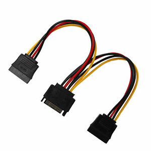 SATA Adapter Cable 1-in-2 Computer PC Hard Disk Optical Drive Power Supply Cord