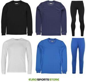 Campri Boys Thermal Base Layer Long Sleeve Top Leggings Bottoms Sports Football