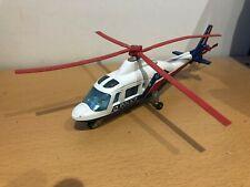 Majorette Diecast Agutsa 109 Police Helicopter - Playworn
