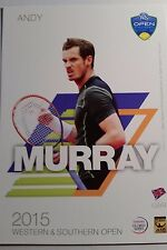 ANDY MURRAY 5X7 2015 WESTERN & SOUTHERN ATP TENNIS TOURNAMENT COLLECTOR CARD