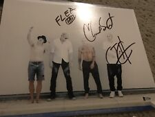 RED HOT CHILI PEPPERS signed 11x14 beckett bas chad smith flea josh klinghoffer