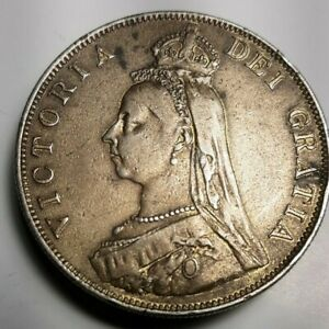 GREAT BRITAIN 1880's DOUBLE FLORIN MADE INTO A BELT BUCKLE