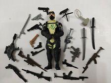 "3.75"" Gi Joe Night Ninja with 5pcs Weapons Rare Action Figure"