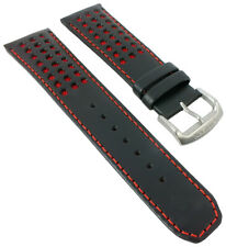 Citizen Red Arrows Wristwatch Strap Leather 23mm Red/Black for AT8060-09L