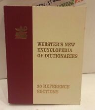 WEBSTER'S NEW ENCLYCLOPEDIA OF DICTIONARIES 30 REFERENCE SECTIONS USED