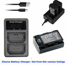 NP-FZ100 Battery for Sony Alpha a9 II Mirrorless 24.2MP 4K Camera Or USB Charger