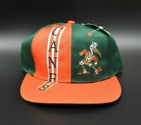 Miami Hurricanes NCAA US College Collection Vintage 90's Snapback Cap Hat - NWT