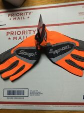 New Snap On Extra Large Orange Work Gloves. Touch Screen Compatible.