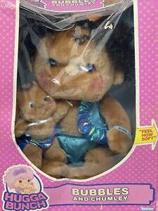 VTG NRFB 1985 Kenner Huggabunch Hugga Bunch BUBBLES Plush Doll with BABY CHUMLEY