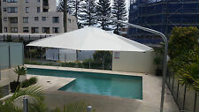 Umbrella 5 metre  Large Outdoor  Cantilever White PVC