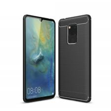 For Huawei Mate 20 X (5G) Case Carbon Fibre Gel Cover Ultra Slim Black