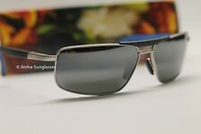 NEW Maui Jim KEANU Matte Silver w GREY POLARIZED AVIATOR 271-17M MSRP $289