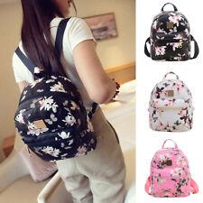 Girls Small Backpack Floral Travel PU Leather Handbag Rucksack Teens School Bags
