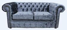 Chesterfield 2 Seater Senso Dusk Crushed Velvet Fabric Sofa Settee