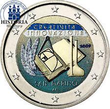 San marino 2 euros conmemorativa 2009 stgl. creatividad en color