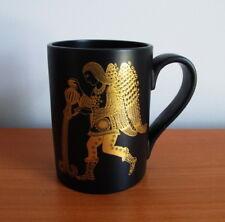 Portmeirion Zodiac Mug Aquarius Black Gold John Cuffley 1970s England Astrology