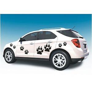 Aufkleber 8 teiliges Set  Hundepfoten Pfoten Hund Pfote Autoaufkleber Sticker