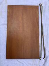 Ladderax Short Deep Teak Shelf 59cm x 35.5cm Wide With 2 Support Bars (27E)
