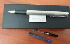 Lamy Studio Brushed Steel Fountain Pen 1416447 - Med Nib