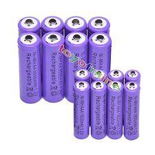 8pc 2a Aa 3000 Mah +8 Pc Aaa 1800mah 1.2 v Ni-mh Batería Recargable 3a Violeta Celular