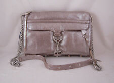 Rebecca Minkoff Mac Clutch in New Silver with Silver Hardware NWT