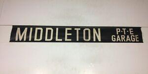 Leeds Vintage Linen Bus Blind 2 1980-  Middleton P T E Garage