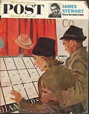 FEB 11 1961 SATURDAY EVENING POST magazine cover print - JEWELRY STORE
