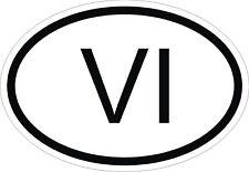 Îles Vierges vi code pays Voiture Pare-chocs Autocollant OVAL
